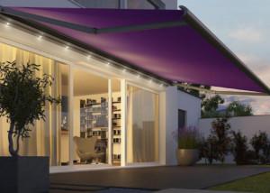 Patio awning purple