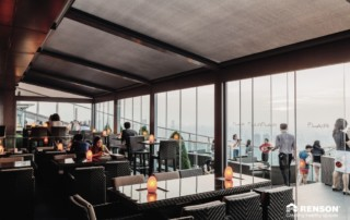 renson protected dining for customers at ritz carlton
