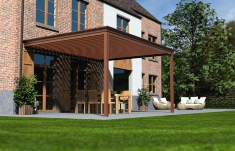 louvered roof canopy