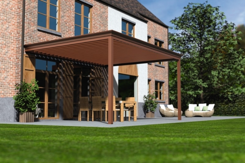 louvered roof canopy & Louvered Roof Canopies u0026 Pergolas with a Remote Controlled Roof ...