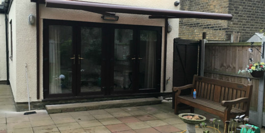 Patio Awning Installed In Ilford, Essex