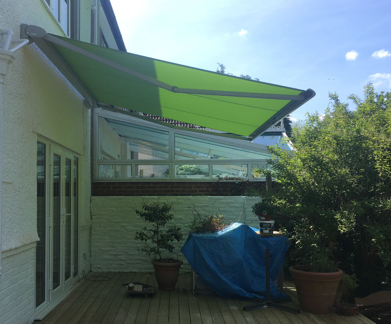 Patio Awning Installed In Tadworth, Surrey